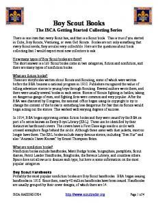 Boy Scout Books The ISCA Getting Started Collecting Series