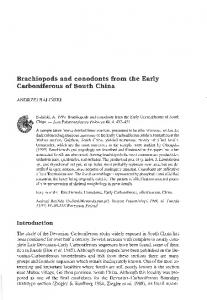 Brachiopods and conodonts from the Early Carboniferous of South ...
