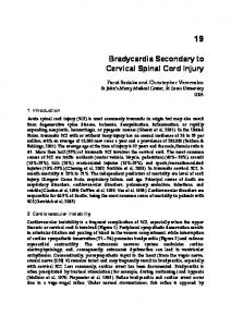 Bradycardia Secondary to Cervical Spinal Cord Injury