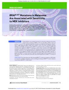 BRAF L597 Mutations in Melanoma Are Associated ...