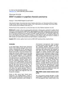 BRAF mutation in papillary thyroid carcinoma
