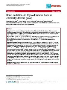 BRAF mutations in thyroid tumors from an ethnically diverse group ...