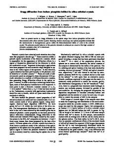 Bragg diffraction from indium phosphide infilled ... - APS Link Manager