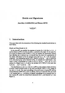 Braids and Signatures 1 Introduction