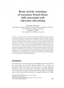 Brain activity correlates of consumer brand choice shift associated with ...