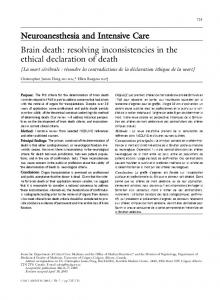 Brain death: resolving inconsistencies in the ethical ... - GEOCITIES.ws