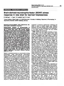 Brain-derived-neurotrophic-factor (BDNF) stress response in ... - Nature