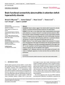 Brain functional connectivity abnormalities in