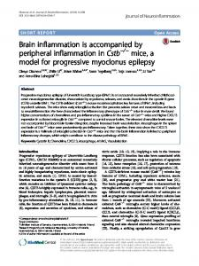 Brain inflammation is accompanied by peripheral inflammation in Cstb ...