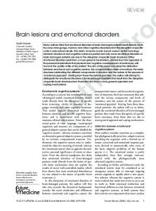 Brain lesions and emotional disorders
