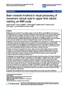 Brain network involved in visual processing of movement stimuli used ...