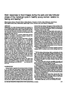 Brain responses to food images during the early and ...