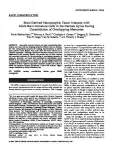 Brainderived neurotrophic factor interacts with ... - Wiley Online Library