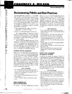 Brainstorming Pitfalls and Best Practices