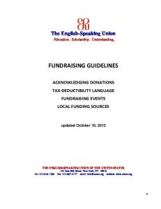 Branch Fundraising Manual