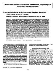 Branched-Chain Amino Acids: Metabolism ... - Journal of Nutrition