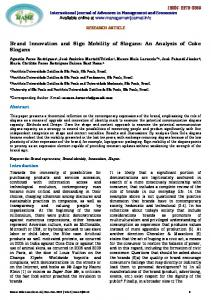 Brand Innovation and Sign Mobility of Slogans - International Journal ...