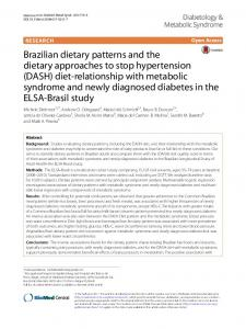 Brazilian dietary patterns and the dietary ... - Semantic Scholar