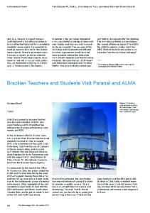 Brazilian Teachers and Students Visit Paranal and ALMA - ESO
