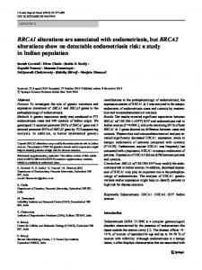 BRCA1 alterations are associated with endometriosis ... - Springer Link