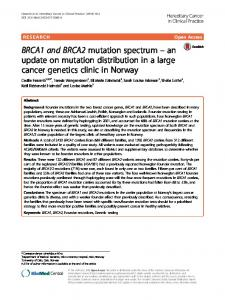BRCA1 and BRCA2 mutation spectrum - Hereditary Cancer in Clinical ...