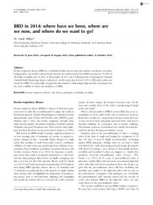 BRD in 2014: where have we been, where are we now, and where do