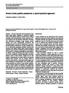 Bread crumb quality assessment: a plural physical approach ...