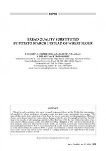bread quality substituted by potato starch instead of ... - Chiriotti Editori