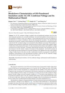Breakdown Characteristics of Oil-Pressboard Insulation under AC-DC ...