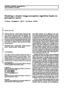 Breaking a chaotic image encryption algorithm based on perceptron ...