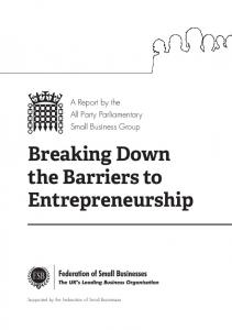 Breaking Down the Barriers to Entrepreneurship - ICAEW