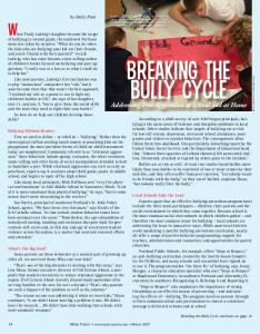 Breaking the Bully Cycle - Trudy Ludwig