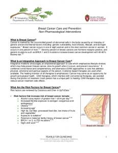 Breast Cancer Care and Prevention