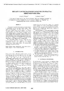 breast cancer diagnosis using multi-fractal dimension ... - IEEE Xplore