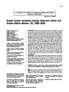 Breast Cancer Incidence Among American Indian and Alaska Native ...