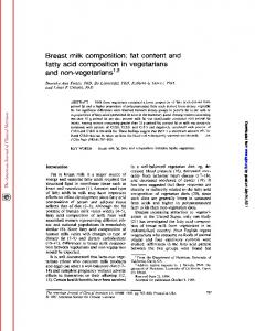 Breast milk composition: fat content and fatty acid ...
