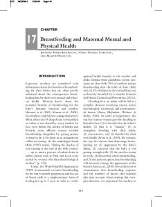 Breastfeeding and Maternal Mental and Physical Health