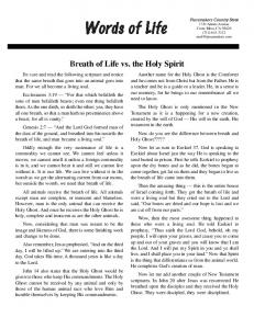 Breath of Life vs. the Holy Spirit - Piecemakers