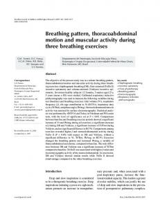 Breathing pattern, thoracoabdominal motion and ... - Semantic Scholar