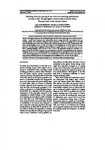 Breeding density, spacing of nest-sites and breeding performance of ...