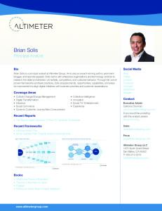 Brian Solis - Altimeter Group