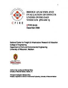 BRIDGE ANALYSIS AND EVALUATION OF EFFECTS UNDER ...