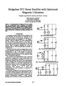 Bridgeless PFC Boost Rectifier with Optimized ... - Semantic Scholar