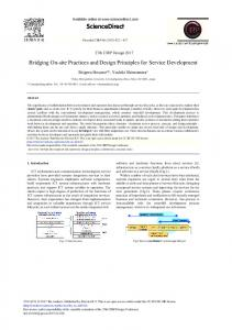 Bridging On-site Practices and Design Principles for ... - Science Direct