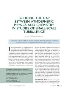 bridging the gap between atmospheric physics and chemistry in