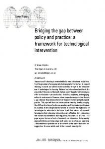 Bridging the gap between policy and practice: a ... - LearnTechLib