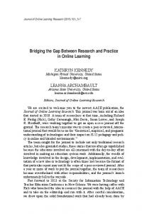 Bridging the Gap Between Research and Practice in ... - LearnTechLib