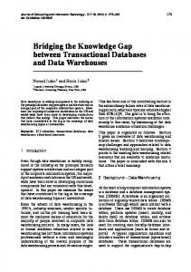 Bridging the Knowledge Gap between Transactional Databases and ...