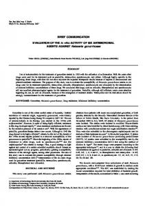 BRIEF COMMUNICATION EVALUATION OF THE