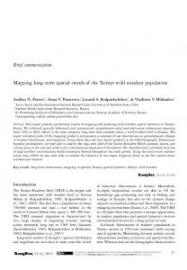 Brief communication Mapping long-term spatial trends of the Taimyr ...